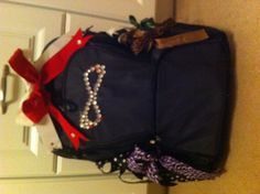 Perfect cheer bag for your cheerleader! Very cheap! But also cute for her! #Bows #Bedazzles #CheerLeaders #Cheer