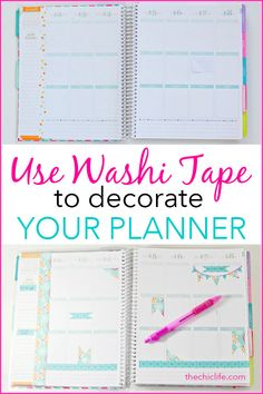 The Happy Planner Teacher Edition Awesome How to Decorate Your Planner with Washi Tape To Do Planner, Passion Planner, Planner Tips, Planner Layout, Planner Pages, Planner Stickers, School Planner, Arc Planner, 2015 Planner