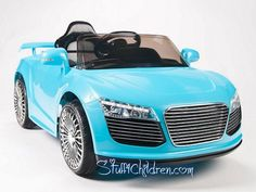 Stuff4Children.com - Audi R8 Electric Cars for Kids to Ride 12V Parental Remote Control Adjustable Seatbelt for Safety MP3 Hookup Music Best in Battery Operated Toy Car Models for Kids to Drive Toddlers Audi kids car blue