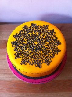 Mandala cake by LaCakerie on Cake Central