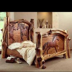 Really neat equine bed
