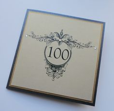 100th Birthday Card for a very special gent!