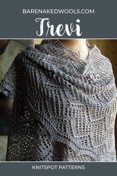 A shimmering triangle shawl in three sizes mini(petite, tall) to accent any outfit with silky luxury. Body is knit in a repeating geometric motif of simple lace stitches and ends at the hem in a knit-on edge. With wrong-side rows all in purl, this piece works up quickly and travels well. Can be resized by adding/subtracting repeats or worked in a different gauge by changing yarn and needles. Lace Knitting Patterns, Knitting Designs, Sea Silk, Fingering Yarn, Stockinette, Yarn Needle, Shawl, Stitches, Triangle
