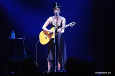 American singer Suzanne Vega performs during a relay concert in Taipei, Taiwan, Aug. 10, 2015.  http://www.chinaentertainmentnews.com/2015/08/relay-concert-in-taipei.html