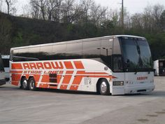 Arrow Stage Lines Prevost Motorcoach in Kansas City, MO.