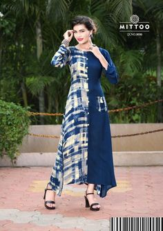 Mittoo Panghat Vol 1 best designer kurti wholesale surat Silk Kurti Designs, Kurta Designs Women, Kurti Designs Party Wear, Kurti Patterns, Dress Patterns, Indian Fashion Dresses, Fashion Outfits, Kurti Styles, Fancy Kurti
