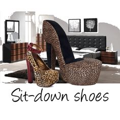 Got one of these chairs in my room!  Now I guess I need the shoes!