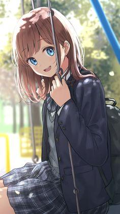 On The Swing Set - Anime Wallpaper