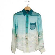 I want this so bad!! Silk surf print shirt