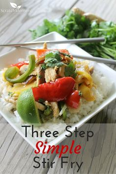Need a dish for busy nights? You'll LOVE this Simple Three-Step Stir Fry Recipe!