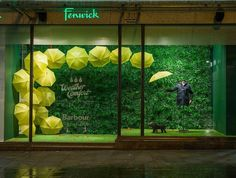 Barbour - photo/creative by Millington Associates, pinned by Ton van der Veer Window Display Retail, Window Display Design, Retail Windows, Store Windows, Merchandising Displays, Store Displays, Boutique Interior, Vitrine Design, Visual Display