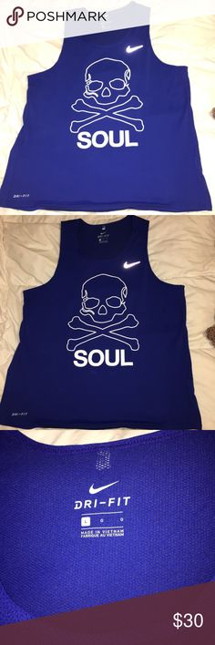 Soulcycle Nike top Basically brand new, only worn once. This is a large, can be unisex. Nike Tops Muscle Tees