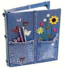 Resultado de imagen para como hacer bolsos de jeans
