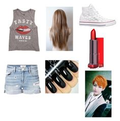 """Concert with V"" by laylarawlings on Polyvore featuring Billabong, Frame Denim and Converse"