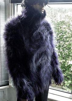 Stunning Superfluffy Hand Knitted BLACKBERRY Mohair Sweater MOHAIRKITTEN Angora Sweater, Heavenly, Blackberry, Hand Knitting, Jumper, Fur Coat, Dreams, Sweaters, Ebay