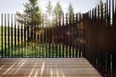 verticle metal sculptural fence - Google Search