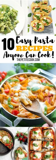 10 Quick, Creative and Easy Pasta Recipes that are 100% beginner-friendly, and made with simple everyday ingredients. Recipes by The Petite Cook