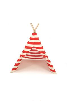 Teepee Play Tent Poles Included American Red by BElittleyouandme