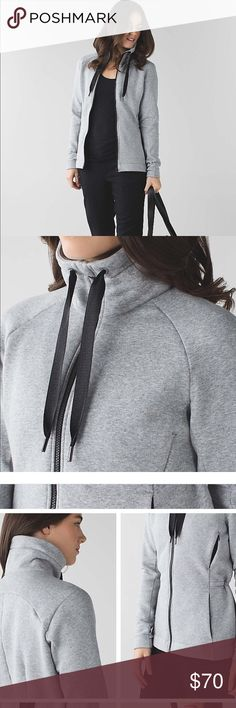 🌟LULULEMON GO AND TAKE OFF FLEECE SWEATER🌟 In GOOD CONDITION ! Whether you're heading to the studio or hiding from the cold, this high-collared core warmer nestles perfectly under your favourite layer. fit: adjustable length: hip fabric + features soft Cotton Fleece fabric helps lock in the heat unzip the upper-body vents to stay cool en route cinch the waist from inside to customize your fit hidden thumbholes keep hands warm on chilly commutes interior cord exit keeps your tunes close…