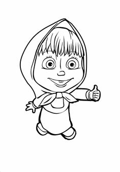 13 Printable Masha And The Bear Coloring Pages