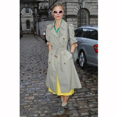 Click the picture to read The Fashion Girl's Guide To Wearing A Trench Coat at redonline.co.uk. This picture: Laura Bailey (getty)