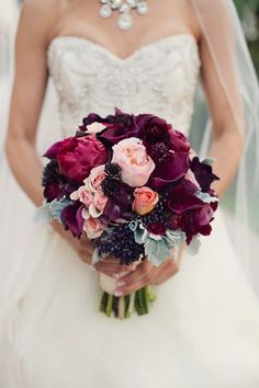purple+calla+lilies+wedding+flowers | Bouquets Eggplant pink roses purple calla lily maroon dark elegant ...