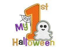 My First Halloween Applique Embroidery Design Fall Applique Designs, Halloween Applique Designs, Applique Embroidery Designs, Halloween Design, Embroidery Stitches, Frankenstein, Primer Halloween, Halloween 2020, Pumpkin Applique