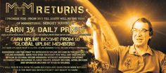 Earn 3% Daily Profit for 50 Days,   Earn 0.5% Each From 50 Global Upline Members Income.  Level Income, Binary Income.