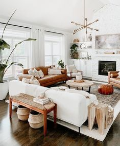 Boho Living Room, Cozy Living Rooms, Home And Living, Living Spaces, Earthy Living Room, Living Room White, Rug Sizes Living Room, Lights For Living Room, Living Room Decor With Plants