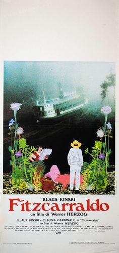 Fitzcarraldo (Werner Herzog, 1982) Italian design Claudia Cardinale, Cinema Posters, Film Posters, Movie Titles, I Movie, Werner Herzog, Miguel Angel, Documentaries, Gallery