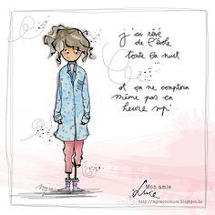"MYRA & les couleurs ...: mon amie ""LUCE"" Image Positive, Positive Attitude, Crazy Girls, Art Sketchbook, Illustrations, Image Sharing, Vintage Postcards, Love Art, Fun Projects"