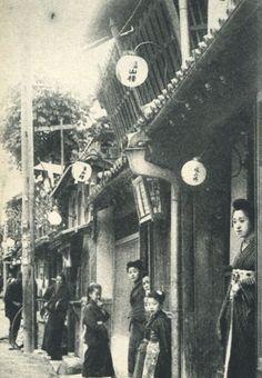 1909年、下関の遊郭街。