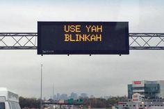 New England funnies. Boston traffic. Boston accents are the best. Lol. I miss hearing it! #boston #home