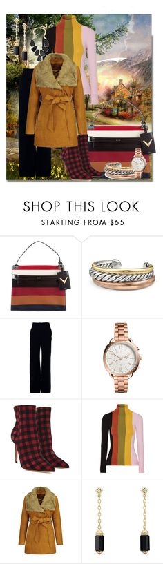 """""""A magical place."""" by tgtigerlily ❤ liked on Polyvore featuring Valentino, David Yurman, Brandon Maxwell, FOSSIL, Lerre, JoosTricot and Kendra Scott"""