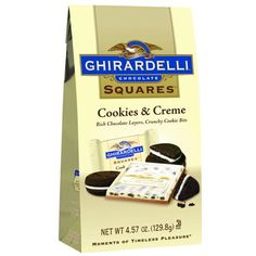 Chocolate Company, Chocolate Box, Melting Chocolate, Candy Recipes, Snack Recipes, Snacks, Ghirardelli Chocolate Squares, Square Cookies, Candy Drinks
