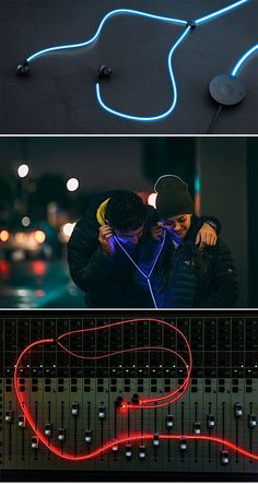 'Tron'-like Glow headphones ( http://www.engadget.com/2015/01/27/glow-headphones/ ) NOW!!!!!