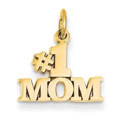 14k #1 Mom Charm C361