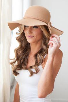 Boho Floppy Hat - Camel