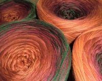 Farbspiele LACE * HerbstSpaziergang* - Cognac-Ziegel-Malaga-Jägergrün, Baumwoll-Acryl-Mischung @100Farbspiele