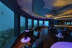Underwater Bar And Club Submerged In Water
