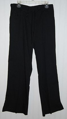 Greys Anatomy Petite Women's XS Scrub Pants Black Style 4232P #GreysAnatomy