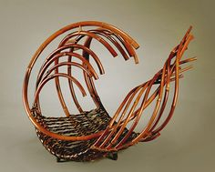 "Basketry, Honma Kazuaki, Artist, Sound of Waves II"", 2000, 19"" x 22"" x 17 1/2"","