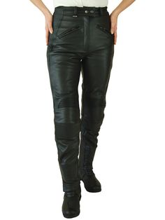 JTS 733 Ladies Leather Motorcycle Trousers - LadyBiker.co.uk