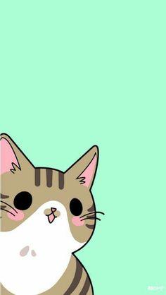 Little Creeper (//∇//) Cute Cat Wallpaper, Kawaii Wallpaper, Pattern Wallpaper, Iphone Wallpaper, Cute Kawaii Drawings, Kawaii Cute, Pretty Wallpapers, Cute Cartoon Wallpapers, Cute Backgrounds