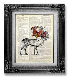 Rose Deer Original Art.      ......................................................................................      Buy 3, get 1 FREE !    After