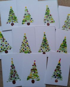 Christmas trees from cardboard layer.