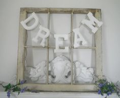 bedroom decor dream hanging sign wood letters dream by ShabbyRoad, $22.50
