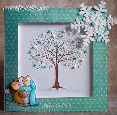 penny black tree of love   PB Winter Wonderland