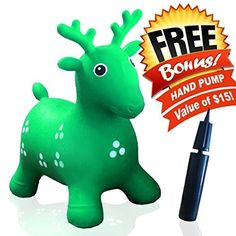 c43e314f827 Ruffio Inflatable Bouncer Cutest Bouncy Hopper Toys for Kids. Come As  Animal Shape As Deer