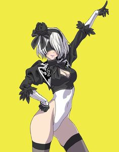 See more 'NieR: Automata' images on Know Your Meme! Art Manga, Manga Girl, Anime Art, Nier Automata, Drakengard Nier, Character Art, Character Design, Video Games Girls, Ecchi